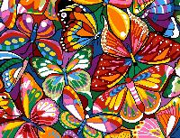 Papillons Multicolores, canevas Margot de Paris