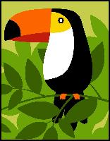 Toucan, kit canevas Margot de Paris