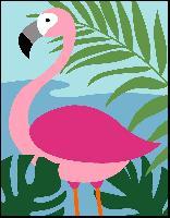 Flamant Rose, kit canevas Margot de Paris