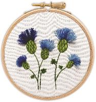 Bleuets en relief, tableautin Broderie Traditionnelle Princesse
