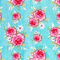"Serviettes "" Rosy Teal "" Tilda, collection Summer Blues"