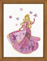Princesse Roselia, kit broderie traditionnelle Princesse