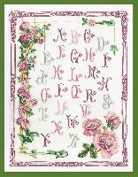 ABC aux Roses, kit broderie traditionnelle Princesse