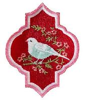 Appliqué Tilda, Oriental Bird Red