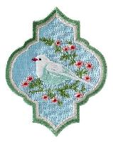 Appliqué Tilda, oriental Bird Blue