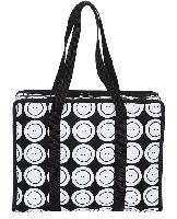 Black & White Rond Blanc, sac valise à ouvrage Tricot