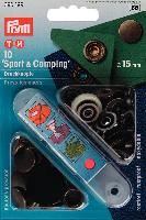 Boutons pressions Sport & Camping vieux Laiton, 15 mm Prym