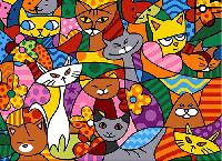 Color Cats, canevas Seg de Paris