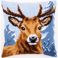 Cerf, kit coussin canevas Vervaco