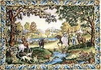 Chasse Louis XV, kit canevas Margot de Paris, 120 X 160 cm