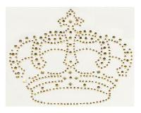 Couronne Topaze, strass thermocollant, 9.5 X 12.5 cm