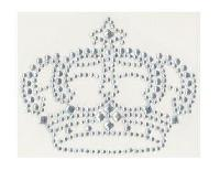 Couronne Argent, strass thermocollant, 6.5 X 8.5 cm