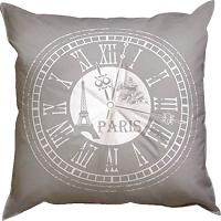 Horloge, kit coussin broderie traditionnelle