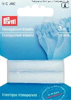 Elastique transparent Prym, largeur 10 mm, 3 M
