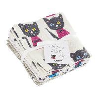 Chat Fat Quarter, Tissu Hello Kitty, assortiment de 6 coupons