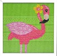 Flamant Rose, kit broderie Diamant Vervaco