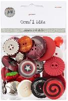 Kit bracelet de boutons Rouges