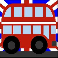 Bus Impérial Union Jack, kit canevas enfant Margot de Paris
