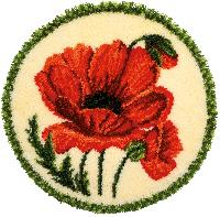 Coquelicot, kit tapis point noué vervaco