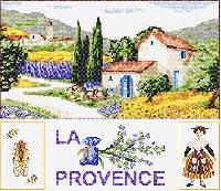 La Provence, kit point de croix Marie Coeur