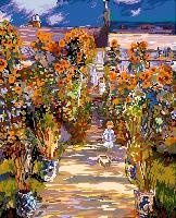 Le jardin de Monet, kit canevas Seg de Paris