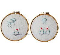 Oiseaux de Noël, kit broderie traditionnelle