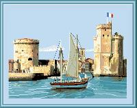 Le Port de la Rochelle, kit point de croix Luc