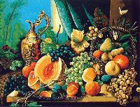 Composition de Fruits, kit canevas Margot de Paris