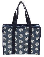 Maritime Marine Pois Gris , sac valise à ouvrage Tricot