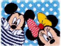 Minnie & Mickey, kit tapis point noué Disney Vervaco