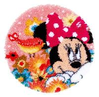 Minnie a un Secret, kit tapis point noué Disney Vervaco