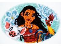 Moana, kit tapis au point noué Disney Vervaco
