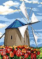 Moulin à voile, kit canevas Seg de Paris