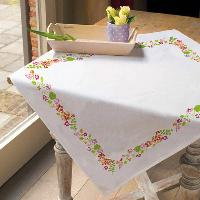 "Douce Prairie, nappe carrée "" Brodart "", Broderie Traditionnelle"