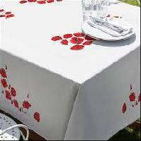 "Coquelicots, nappe "" Margot Broderie "", Broderie Traditionnelle"