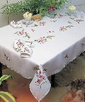 "Ramage, nappe "" Margot Broderie "", Broderie Traditionnelle"