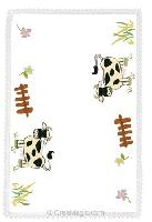 Napperon Avila les Vaches, Broderie Traditionnelle