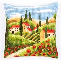 Paysage Toscan, kit coussin canevas Vervaco