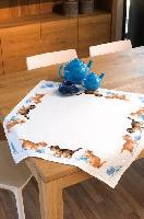 Chatons Jouants, kit nappe toile Aïda Vervaco