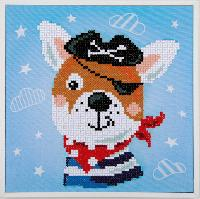Chien Pirate, kit Diamond Painting Vervaco