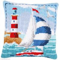 Le Phare, kit coussin canevas Vervaco