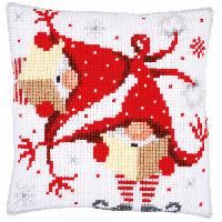Les Lutins, kit coussin canevas Vervaco