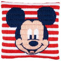 Mickey Mouse, kit coussin point lancé Vervaco