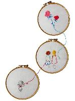 Les enfants,  kits broderie traditionnelle