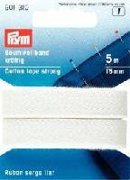 Ruban serge coton lint, 5 M, largeur 15 mm
