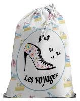 Sac j aime les voyages, broderie traditionnelle