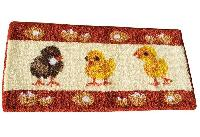 Les Poussins, kit tapis point noué Smyrnalaine