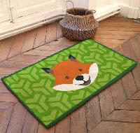 Renard, kit tapis point noué Smyrnalaine, 100 X 50 cm