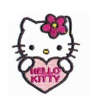 Hello Kitty, écusson thermocollant