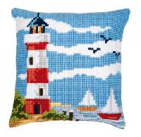 Phare & Voiliers, kit coussin canevas